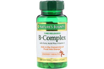 Nature's Bounty B-Complex Time Released - 125 Coated Tablets
