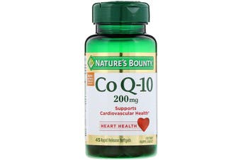 Nature's Bounty Co Q-10 200mg - 45 Rapid Release Softgels
