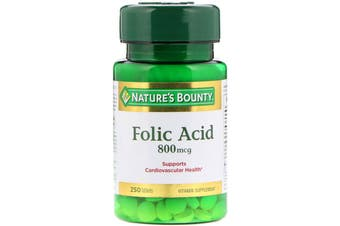 Nature's Bounty Folic Acid 800 mcg - 250 Tablets