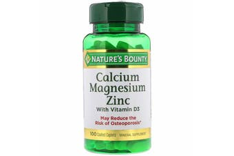 Nature's Bounty Calcium Magnesium Zinc with Vitamin D3 - 100 Coated Caplets
