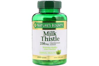 Nature's Bounty Milk Thistle 250 mg - 200 Capsules