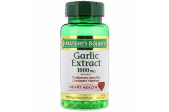 Nature's Bounty Garlic Extract 1000 mg -100 Rapid Release Softgels