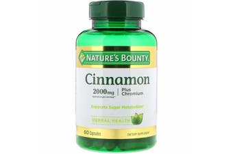 Nature's Bounty Cinnamon Plus Chromium 2,000 mg - 60 Capsules
