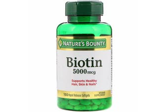Nature's Bounty Biotin 5,000 mcg - 150 Rapid Release Softgels
