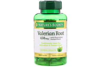 Nature's Bounty Valerian Root with Proprietary Herbal Blend 450mg - 100 Capsules