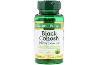 Nature's Bounty Black Cohosh 540 mg - 100 Capsules