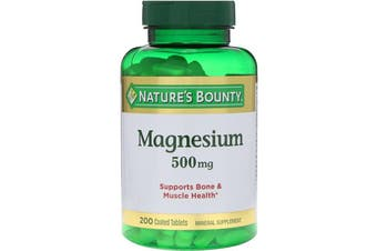 Nature's Bounty Magnesium 500 mg - 200 Coated Tablets