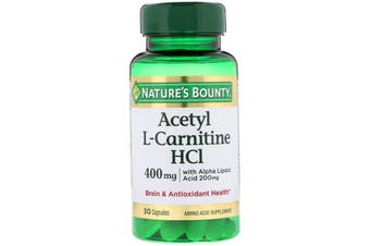 Nature's Bounty Acetyl L-Carnitine HCI 400mg - 30 Capsules