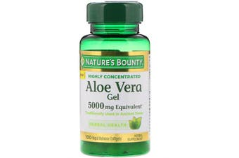 Nature's Bounty Aloe Vera Gel 5,000mg Equivalent, 100 Rapid Release Softgels