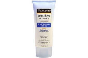 Neutrogena, Ultra Sheer Dry-Touch Suncreen, SPF 45, 88 mL