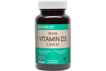 MRM Vegan Vitamin D3 2,500 IU Dietary Supplement 60 Vegan Capsules