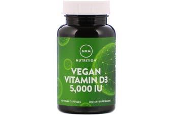 MRM Vegan Vitamin D3 5,000 IU Dietary Supplement 60 Vegan Capsules