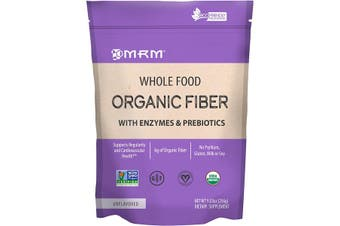MRM Whole Food Organic Fiber with Enzymes & Prebiotics - Unflavoured, 256g