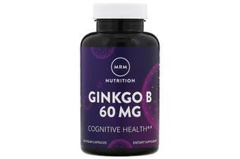 MRM Nutrition Ginkgo B Circulation & Mental Fatigue Support - 60mg, 120 Vegan Capsules