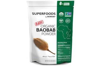 MRM Raw Organic Baobab Powder Upside Down Tree Extract 240g