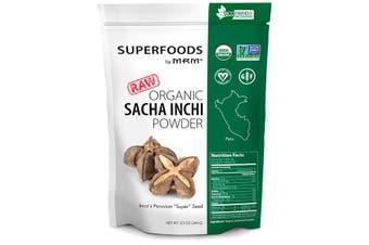 MRM Raw Organic Sacha Inchi Powder Peruvian Plukenetia volubilis Inca Peanut Seed Extract 240g
