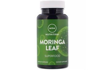 MRM Organic Indian Moringa Leaf Superfood Powder, 60 Vegan Capsules