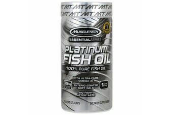 Muscletech Platinum 100% Pure Omega EPA DHA Fish Oil - 100 Softgels *REDUCED Best Before May 2020