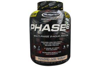 Muscletech Phase 8 Multi-Phase 8 Hour Protein - Cookies & Cream 2kg