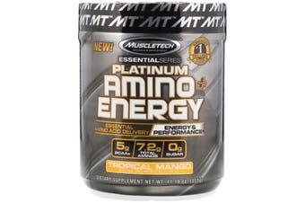 Muscletech Platinum Amino Energy - 30 Serves Tropical Mango
