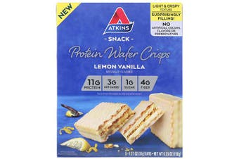 Atkins Protein Wafer Crisps Lemon Vanilla - 5 Bars (36g each)