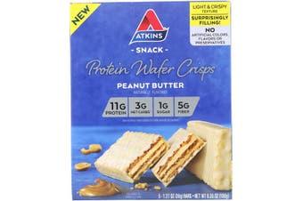 Atkins Protein Wafer Crisps Peanut Butter - 5 Bars (36g each)