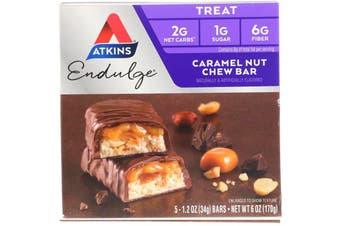 Atkins Endulge Caramel Nut Chew Bars x 5 - 34g Each