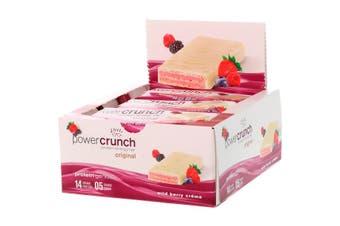 BNRG Power Crunch Protein Energy Bars - Wild Berry Creme, 12 Bars (40g each)