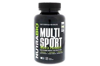 NutraBio Labs, MultiSport Men's Athletic Multivitamin & Mineral Formula, 120 Capsules