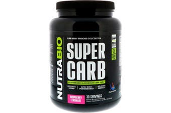 NutraBio Labs Super Carb Performance & Recovery Carbohydrate Fuel - Raspberry Lemonade, 834g