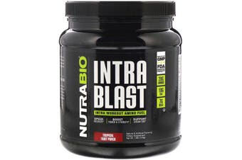 NutraBio Labs Intra Blast Workout Muscle Fuel Power Strength Hydration & Recovery - Tropical Fruit Punch, 723g
