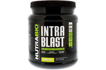 NutraBio Labs Intra Blast Workout Muscle Fuel Power Strength Hydration & Recovery - Passion Fruit, 718g