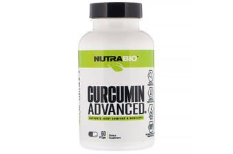 NutraBio Labs Curcumin Advanced Joint Comfort & Mobility Support 60 Capsules
