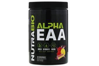 NutraBio Labs Alpha EAA Essential Amino Acids Build Hydrate Focus - Strawberry Lemon Bomb, 458g