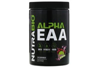 NutraBio Labs Alpha EAA Essential Amino Acids Build Hydrate Focus - Cherry Lime Slush, 455g