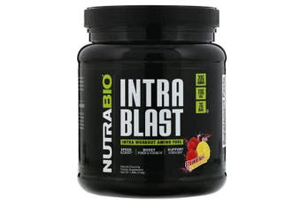 NutraBio Labs Intra Blast Workout Muscle Fuel Power Strength Hydration & Recovery - Strawberry Lemon Bomb, 740g