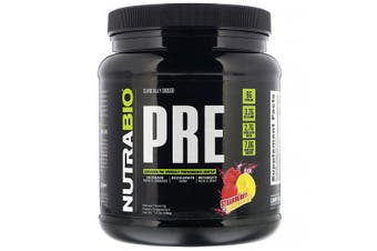 NutraBio Labs PRE-Workout Increase Accelerate Intensify - Strawberry Lemon Bomb, 596g