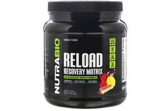 NutraBio Labs Reload Rapid Recovery Matrix Formula -  Strawberry Lemon Bomb, 868g