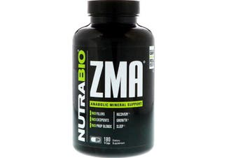 NutraBio Labs ZMA Recovery Anabolic Muscle Growth & Sleep 180 Vegetable Capsules