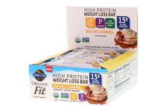 Garden of Life, Organic Fit, High Protein Weight Loss Bar, Sea Salt Caramel, 12 Bars, 1.9 oz (55 g) Each