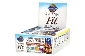 Garden of Life, Organic Fit, High Protein Weight Loss Bar, Peanut Butter Chocolate, 12 Bars, 1.9 oz (55 g) Each