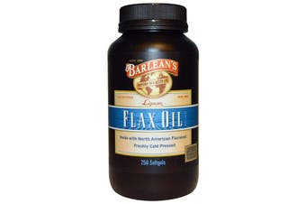 Barlean's, Lignan Flax Oil, 250 Softgels