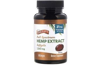 Barlean's, Full Spectrum Hemp Extract, 21 mg, 60 Softgels