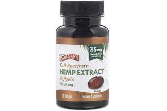 Barlean's, Full Spectrum Hemp Extract, 35 mg, 30 Softgels