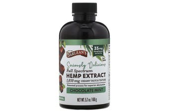 Barlean's, Seriously Delicious Full Spectrum Hemp Extract, Chocolate Mint, 35 mg, 160 g