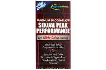 Applied Nutrition Magnum Blood Flow for Sexual Peak Peformance with Nitric Oxide Booster 40 Tablets