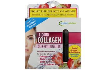 Applied Nutrition Liquid Collagen Skin Revitalization Tropical Strawberry & Kiwi Flavoured - 10 Liquid Tubes, 10ml Each