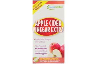 Applied Nutrition Apple Cider Vinegar Extra Strength + Garcinia Cambogia 48 Veggie Capsules