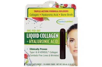 Applied Nutrition Liquid Collagen + Hyaluronic Acid - 10 Liquid Tubes, 10ml Each