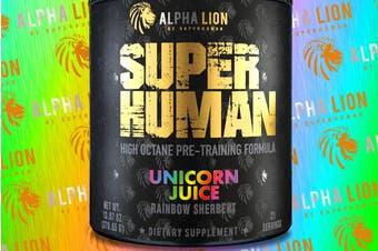 Alpha Lion SUPERHUMAN Pre-Workout V2 Unicorn Juice, 21 Servings